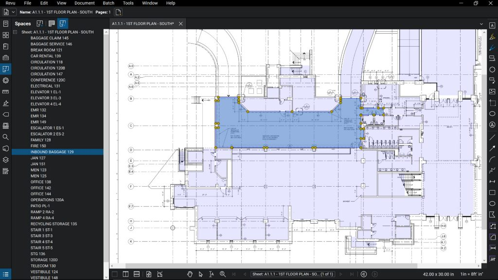 Revit Rooms to Spaces in Revu