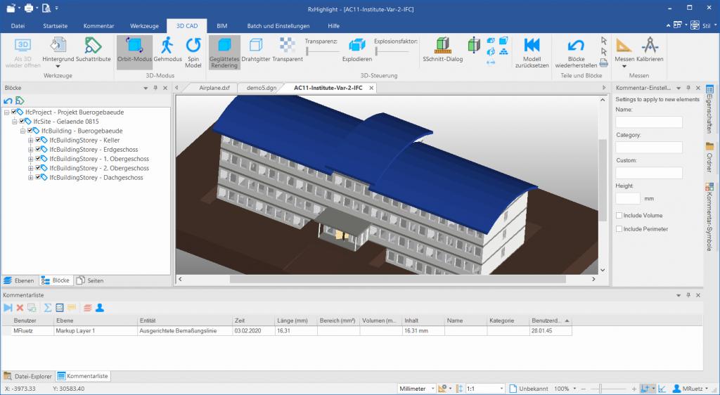 3D CAD Tab