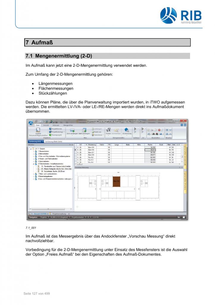 2D-Mengenermittlung mit RxSDK in iTWO Seite 001