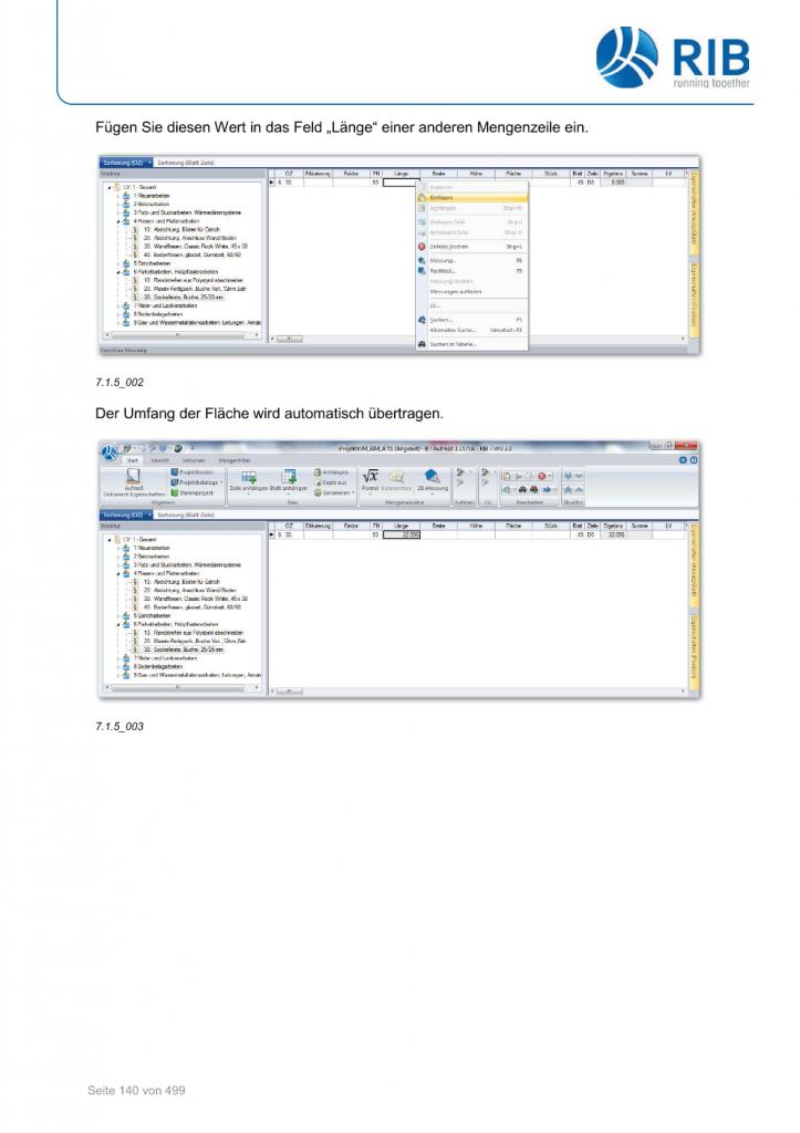 2D-Mengenermittlung mit RxSDK in iTWO Seite 014